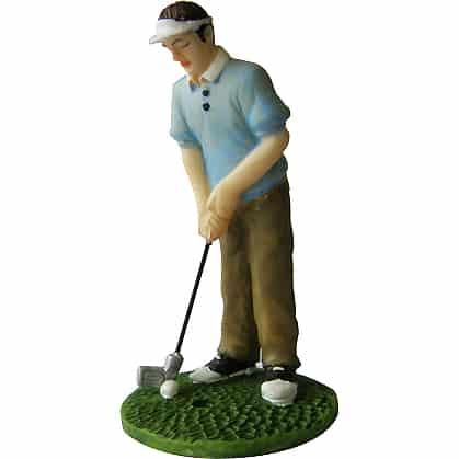 Deluxe Male Golfer Figurine Cake Topper
