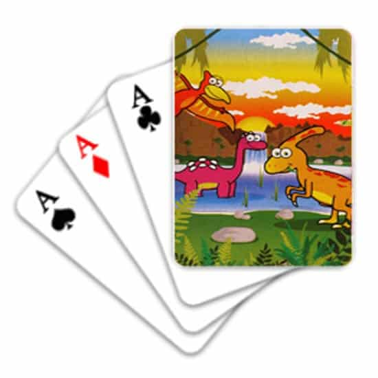 Dinosaur Mini Playing Cards - Pack of 24 Product Image