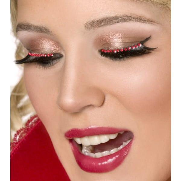 Red Crystal False Eyelashes