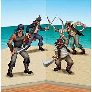 Dueling Pirate and Bandit Backdrop Scene Setter Add-Ons