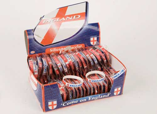 England St George Silicone Bracelet