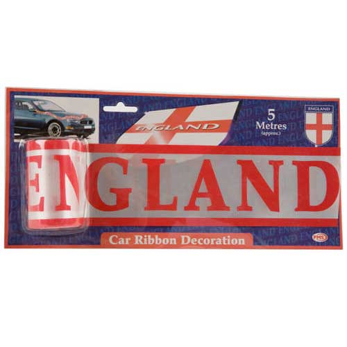 England Supporters Unbreakable White Car Ribbon - 5m