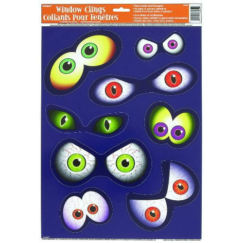 Eyeball Window Cling Sheet Product Image