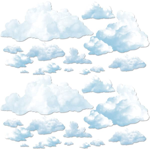 Fluffy Clouds Backdrop Scene Setter Add-ons