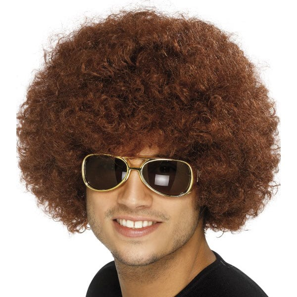 Funky Brown Unisex Afro Wig Product Image