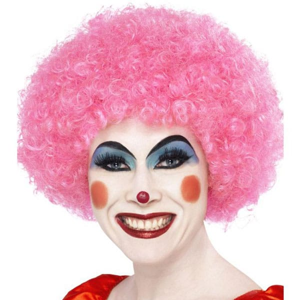 Funky Pink Unisex Afro Wig Product Image