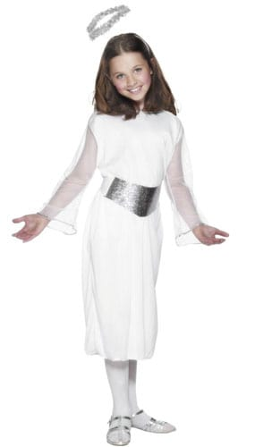Girls Angel Costume 10 - 12 Years Children Christmas Fancy Dress - Large Product Image