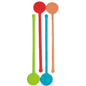 Assorted Glow Disc Stirrers - Pack of 100 Product Image