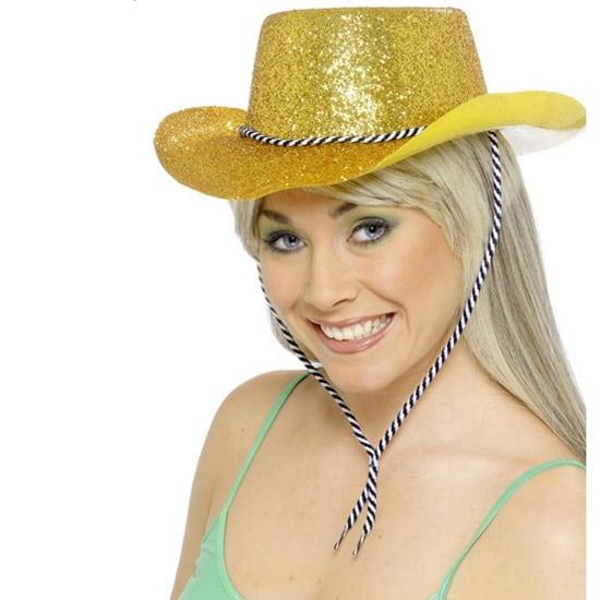 Gold Glitter Cowboy Hat