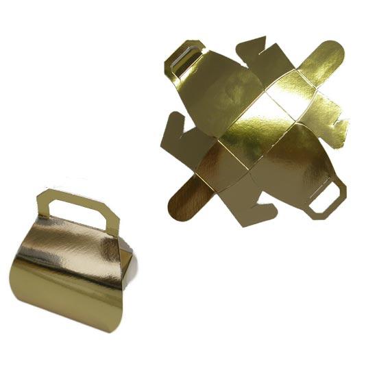 Metallic Gold Handbag Favour Box Product Image