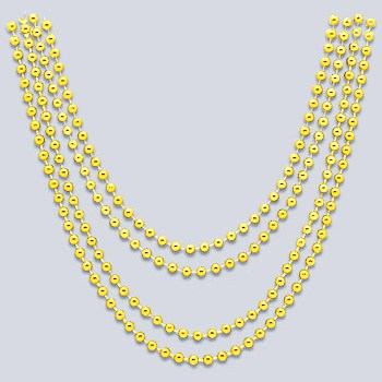 Gold Metallic Bead Necklaces - 32 Inches / 81cm - Pack of 4 Product Image