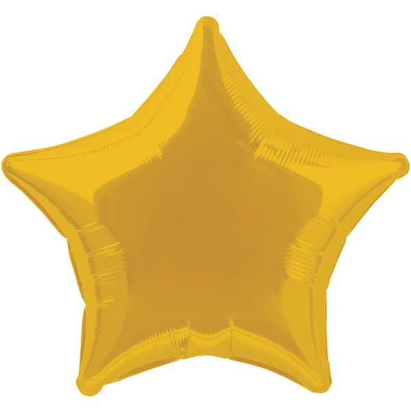 Gold Star Foil Helium Balloon 51cm / 20Inch