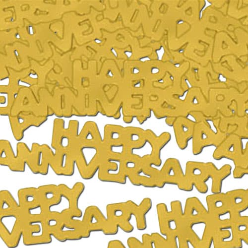 Golden Happy Anniversary Embossed Confetti - 14 Grams Product Image