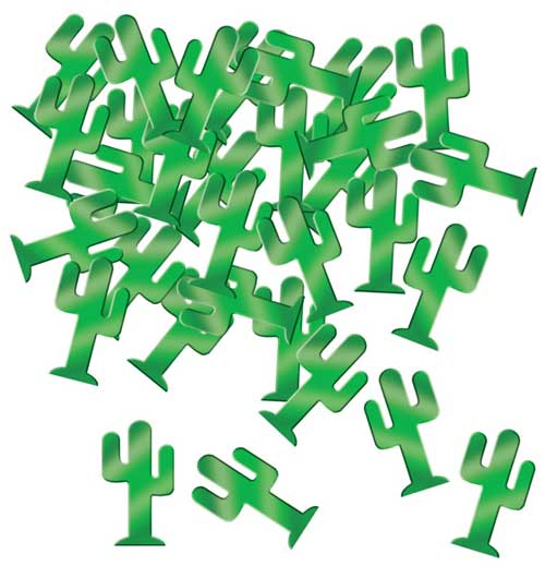 Green Cactus Table Confetti - 28 Grams