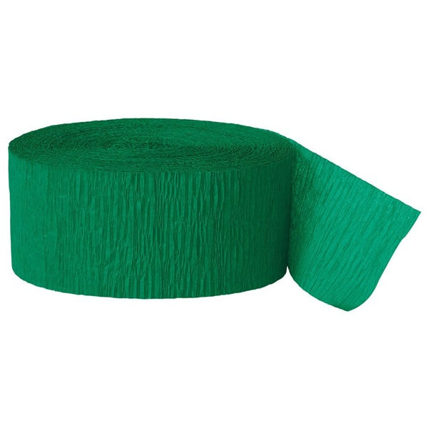 Green Crepe Streamers - 81 Ft / 24.6m