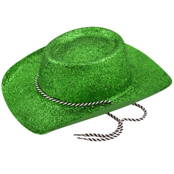 Green Glitter Cowboy Hat Product Image