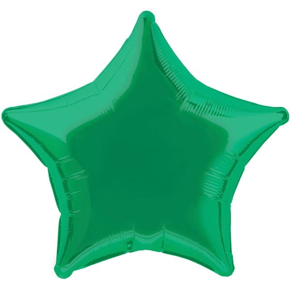 Green Star Foil Helium Balloon 51cm / 20Inch Product Image