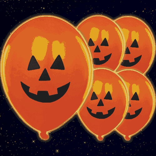 Halloween Pumpkin Print Illoom Balloons - 9 Inches / 23cm - Pack of 5 Product Image