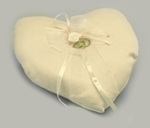 Heart Shaped Ring Cushion Ivory Product Image