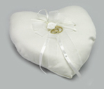 Heart Shaped Ring Cushion White Product Image
