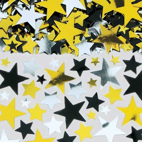 Hollywood Metallic Stars Table Confetti - 70 Grams Product Image
