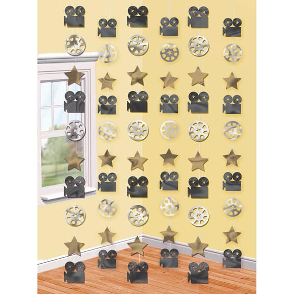 Hollywood String Decoration - 7 Ft / 213cm - Pack of 6 Product Image