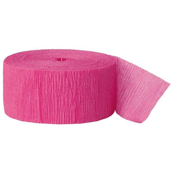 Hot Pink Crepe Streamer - 81 Ft / 24.6m