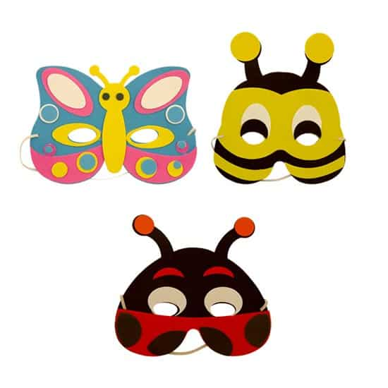Assorted Insects Foam Masks - Pack of 3 Product Image