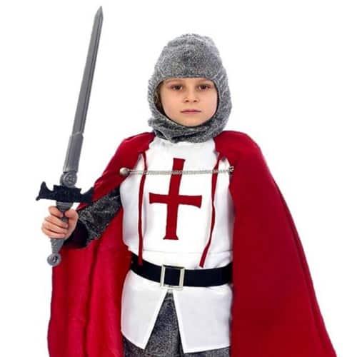 Knight Costume 10 - 12 Years Childrens Fancy Dress