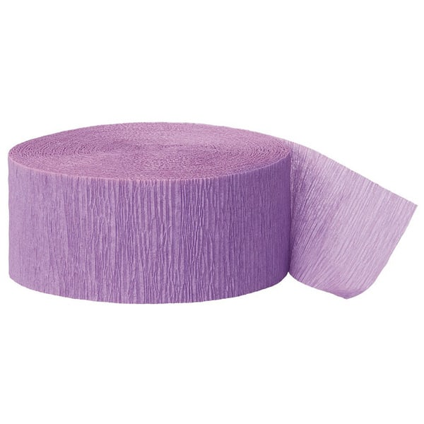 Lavender Crepe Streamer - 81 Ft / 24.6m Product Image