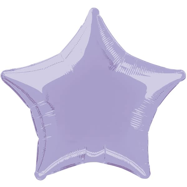 Lavender Star Foil Helium Balloon 51cm / 20Inch