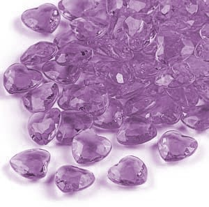 Lilac Hearts Premium Table Gems - 12 Packs of 28 Grams Product Image