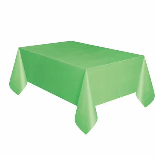 Lime Green Plastic Tablecover 274cm x 137cm Bundle Product Image