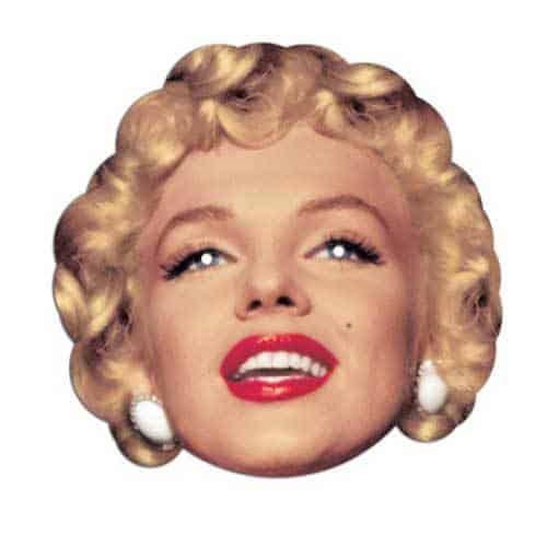 Marilyn Monroe Cardboard Face Mask Product Image