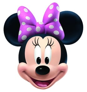 Disney Minnie Mouse Cardboard Face Mask Product Image