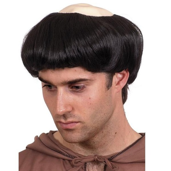 Monk Rubber Top Mens Short Wig Product Image