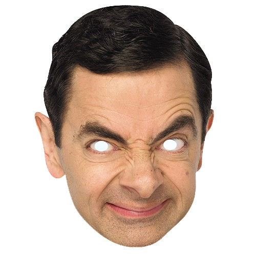 Mr Bean Cardboard Face Mask Product Image