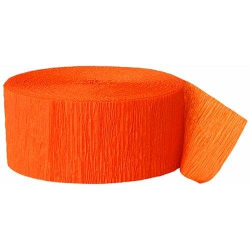 Orange Crepe Streamer - 81 Ft / 24.6m Product Image