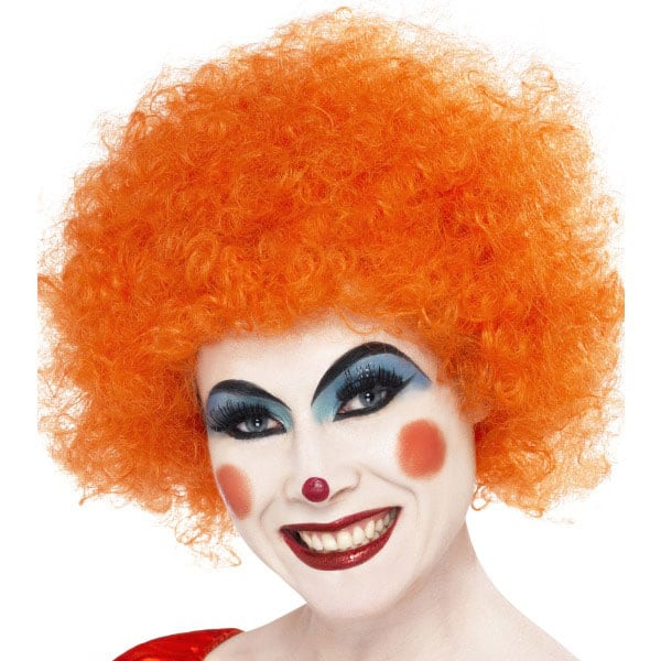 Funky Orange Unisex Afro Wig Product Image