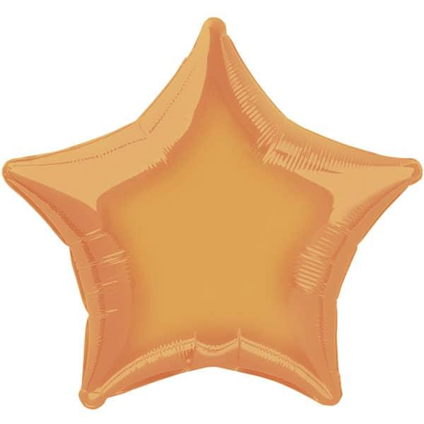Orange Star Foil Helium Balloon 51cm / 20Inch
