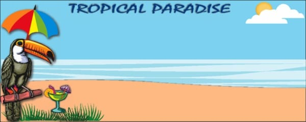 Tropical Paradise Toucan Small Personalised Banner - 4ft x 2ft