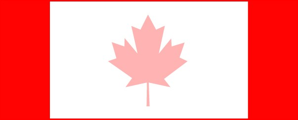Canadian Flag Medium Personalised Banner - 6ft x 2.25ft
