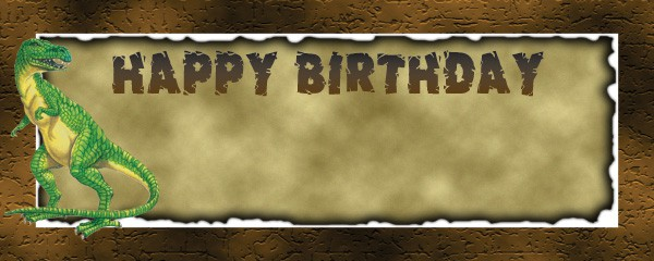 Diggin For Dino Happy Birthday Design Small Personalised Banner - 4ft x 2ft