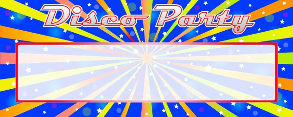 Disco Fever Design Small Personalised Banner- 4ft x 2ft