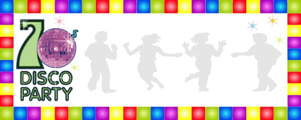 70s Disco Party Design Medium Personalised Banner - 6ft x 2.25ft