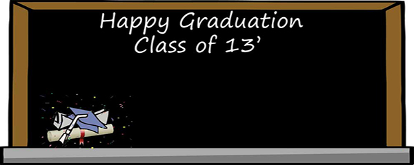 Graduation Blackboard Design Small Personalised Banner - 4ft x 2ft