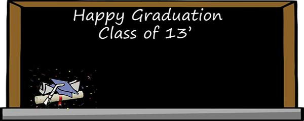 Graduation Blackboard Design Small Personalised Banner - 4ft x 2ft