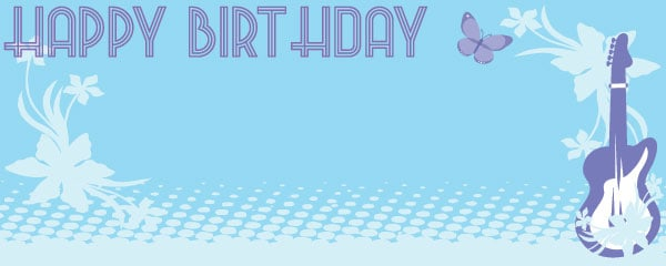 Hannah Montana Happy Birthday Design Small Personalised Banner - 4ft x 2ft