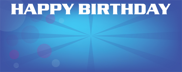 High School Musical 2 Blue Birthday Design Small Personalised Banner - 4ft x 2ft