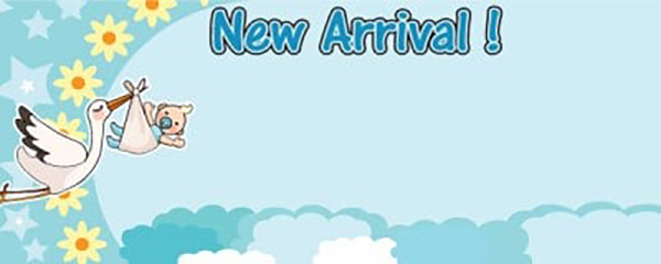 It's a Boy New Arrival Small Personalised Banner- 4ft x 2ft